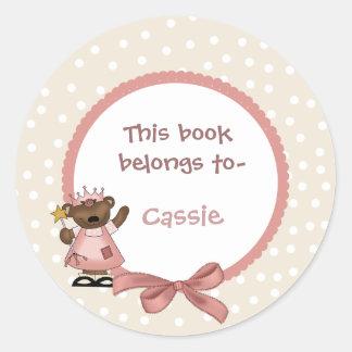 Pegatina del bookplate de la princesa