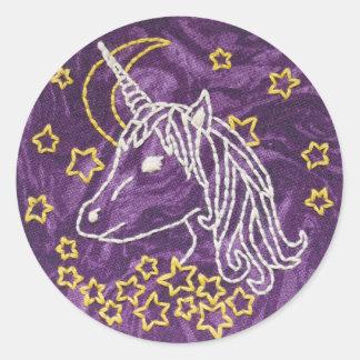 Pegatina del bordado del unicornio - pegatina del