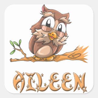 Pegatina del búho de Aileen