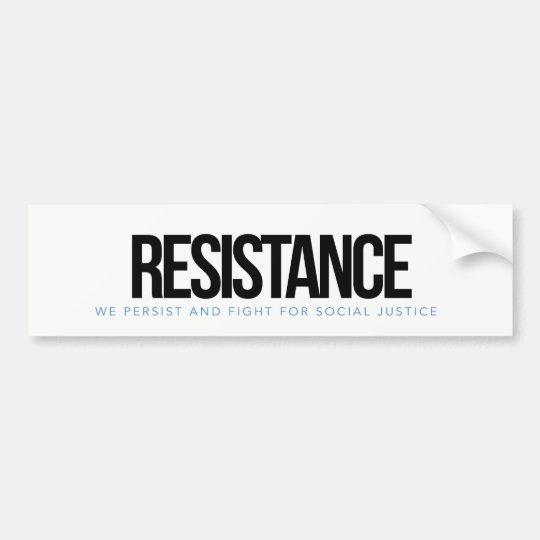 Pegatina del bummper de la RESISTENCIA