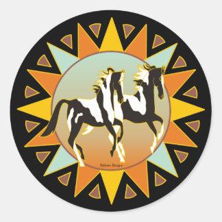 Pegatina del caballo de la pintura de la estrella