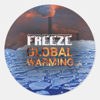 Pegatina del calentamiento del planeta del helada
