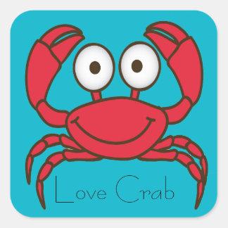 Pegatina del cangrejo del amor