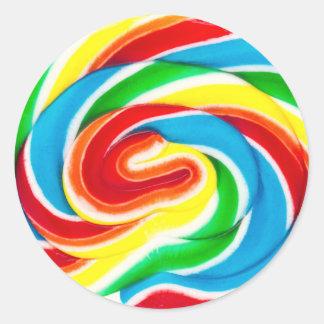 pegatina del caramelo del lollipop del remolino