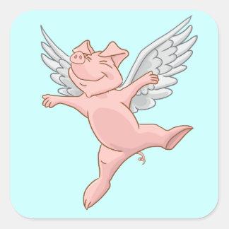 Pegatina del cerdo del vuelo