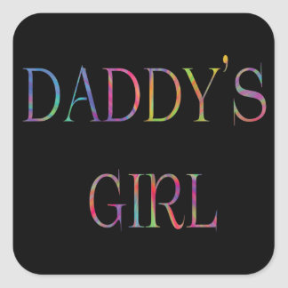 Pegatina del chica del papá