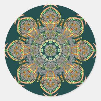 Pegatina del círculo de Shroom