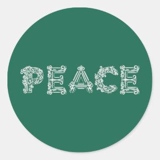 Pegatina del círculo del día de fiesta de la paz