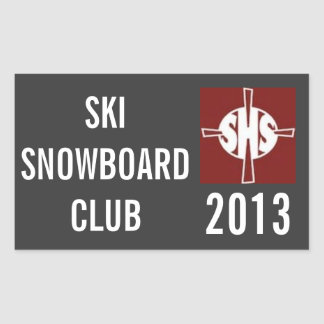 Pegatina del club del esquí de SHS