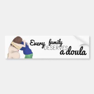 Pegatina del coche - cada familia merece un doula