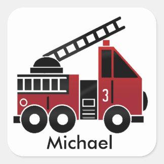 Pegatina del coche de bomberos