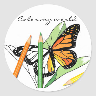 Pegatina del colorante de la mariposa