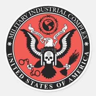 Pegatina del complejo militar-industrial