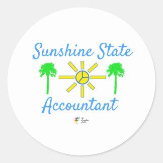 Pegatina del contable del estado del sol de la