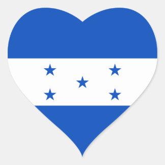 Pegatina del corazón de la bandera de Honduras