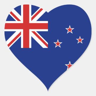 Pegatina del corazón de la bandera de Nueva