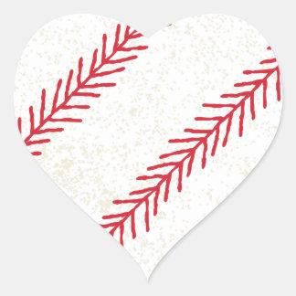 Pegatina del corazón de la puntada del béisbol