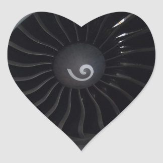 Pegatina del corazón del motor a reacción