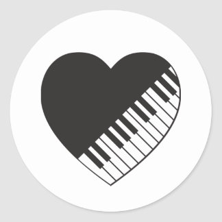 Pegatina del corazón del piano