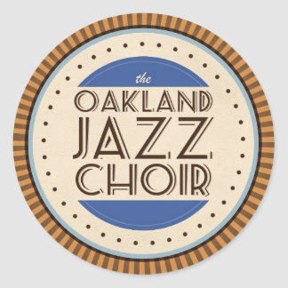 Pegatina del coro del jazz de Oakland