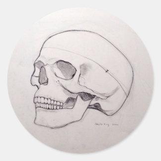 Pegatina del cráneo 8am