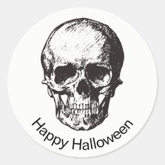 Pegatina del cráneo del feliz Halloween