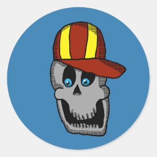 Pegatina del cráneo del gorra de béisbol
