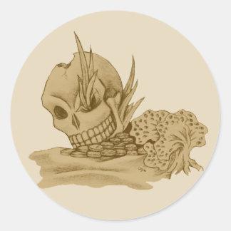 Pegatina del cráneo del pirata
