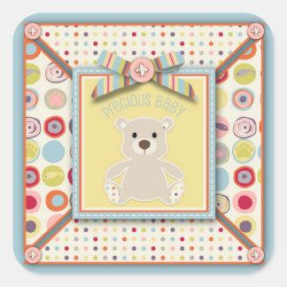 Pegatina del cuadrado del oso del oso