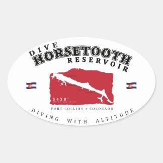 Pegatina del depósito de Horsetooth de la