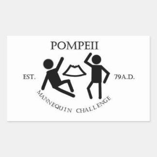 Pegatina del desafío del maniquí de Pompeya