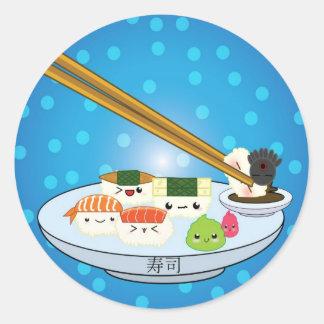 Pegatina del disco del sushi