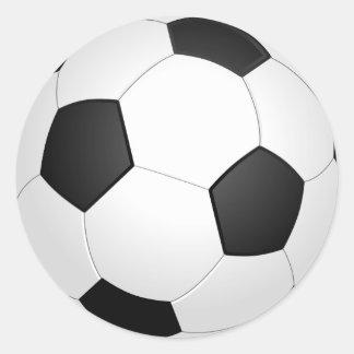 Pegatina del ejemplo del fútbol del balón de