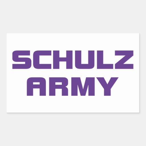 Pegatina del ejército de Schulz