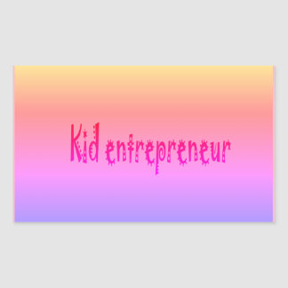 pegatina del empresario del niño del kawwi