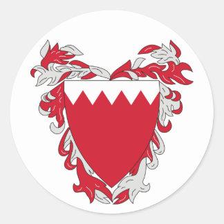 Pegatina del escudo de armas de Bahrein
