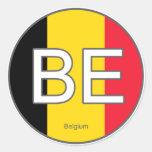 Pegatina del euro de Bélgica