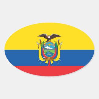 Pegatina del Euro-estilo de la bandera de Colombia