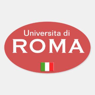 Pegatina del europeo de la universidad de Roma