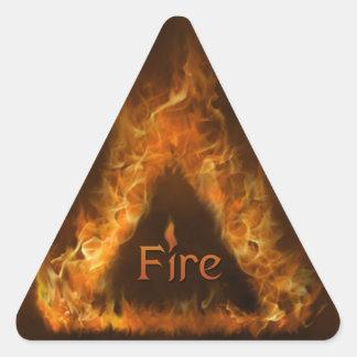 Pegatina del fuego