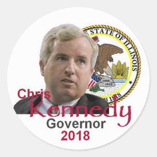 Pegatina del gobernador de Chris KENNEDY