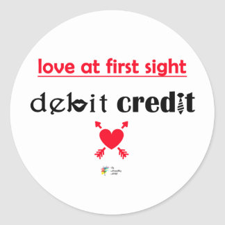 Pegatina del humor de la contabilidad - amor en la