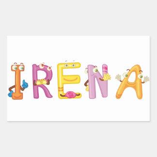 Pegatina del Irena