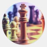 Pegatina del juego de ajedrez