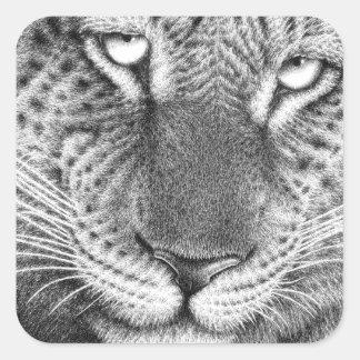 Pegatina del leopardo