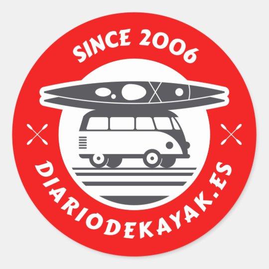 Pegatina del logo de diario de kayak