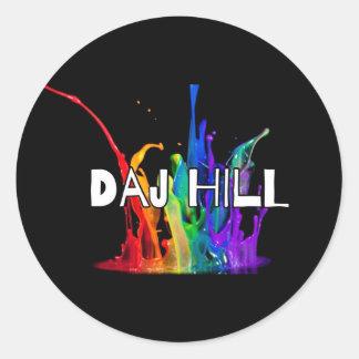 Pegatina del logotipo de la colina de Daj