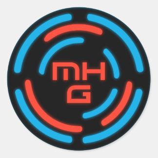 Pegatina del logotipo del juego de Mulehorn