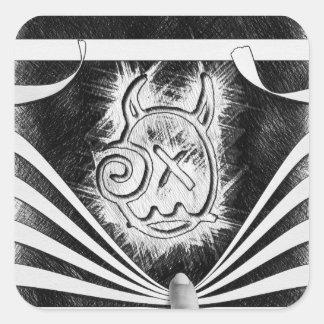 Pegatina del logotipo del peekaboo