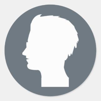 Pegatina del logotipo del sable